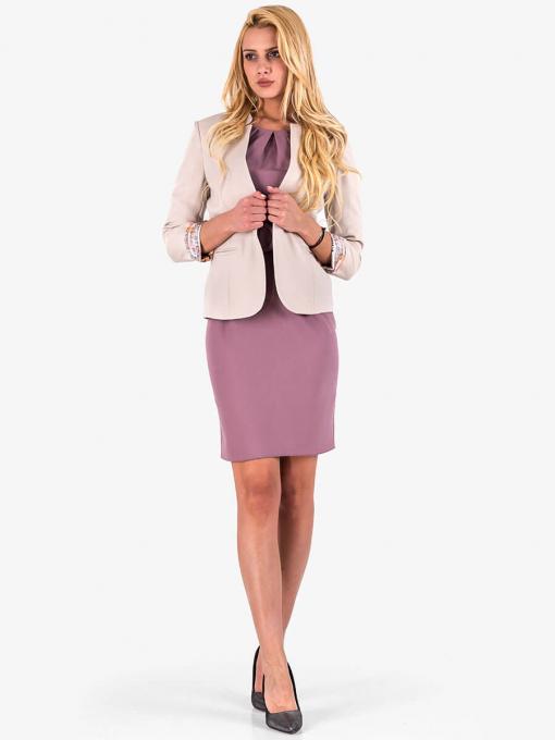 Вталена елегантна рокля - лилава от Indigo Fashion 4