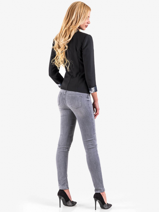 Дамско вталено сако - черно 7043 INDIGO Fashion