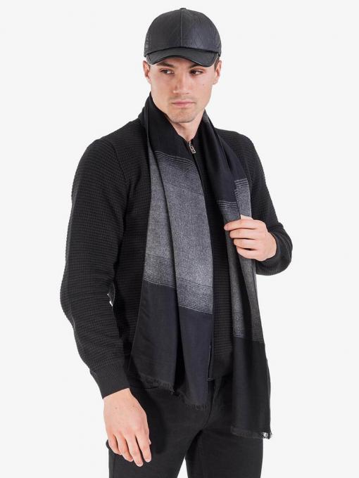 Двулицев кашмирен шал - черен 11146 INDIGO Fahion