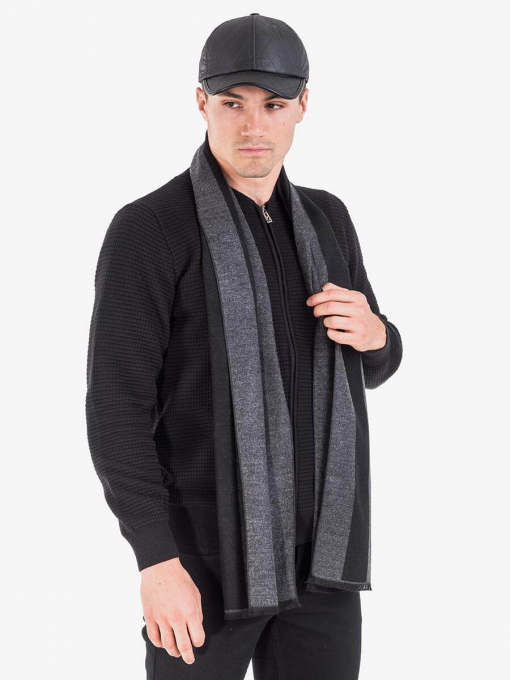 Кашмирен шал на райе - черен 11151 INDIGO Fashion