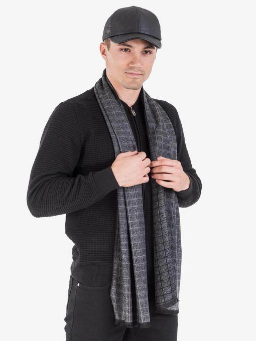 Кашмирен шал на каре 11159 INDIGO Fashion