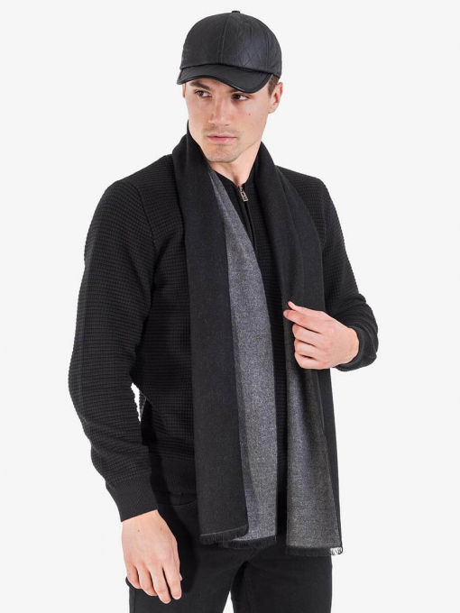 Кашмирен шал - черен 9495 INDIGO Fashion