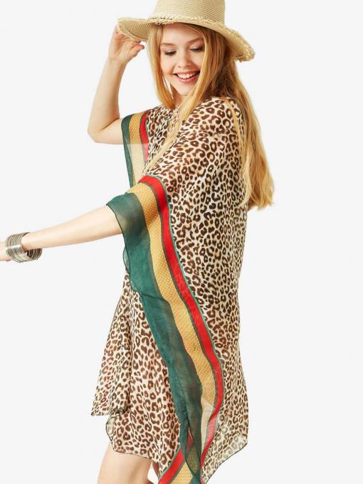 Дамски шал с животински принт 11602 INDIGO Fashion