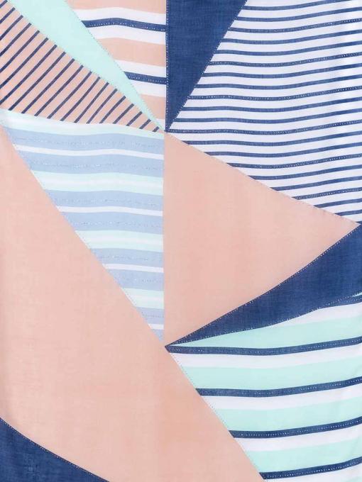 Син дамски шал с абстрактен десен 11659 INDIGO Fashion