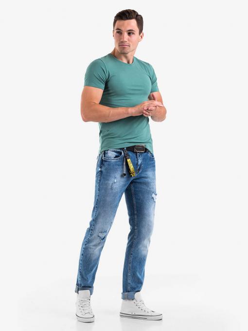 Зелена мъжка тениска - basic модел 501363 INDIGO Fashion