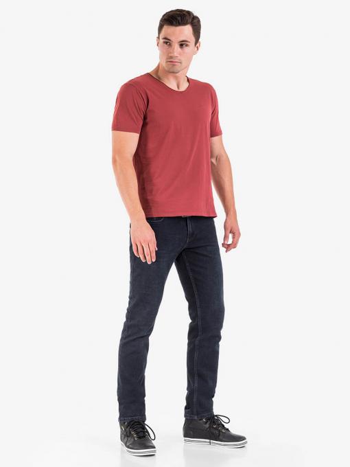Класически мъжки дънки в графитено черно 5634 INDIGO Fashion