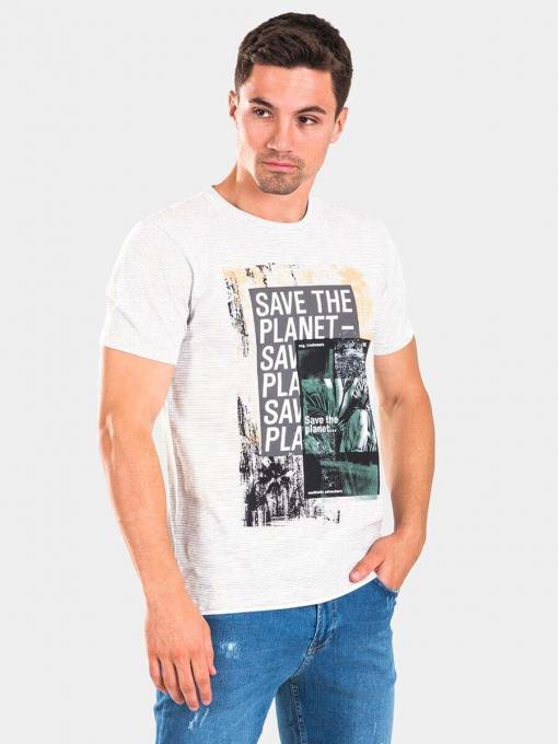 Мъжка тениска 35323-10 INDIGO Fashion A