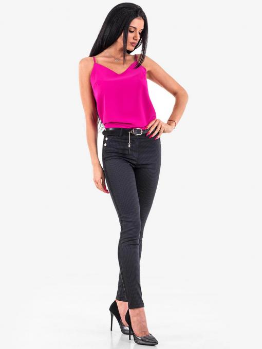 Дамски елегантен лилав топ 12632 INDIGO Fashion