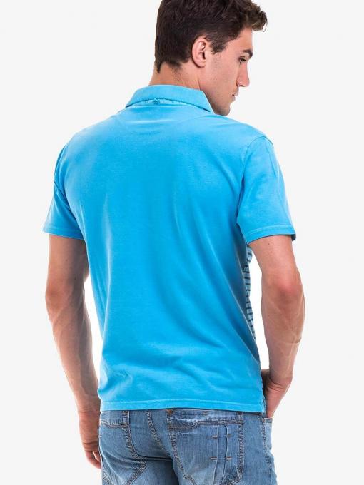 Мъжка блуза BLUE PETROL 3095-08 INDIGO Fashion