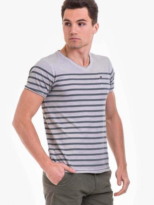 Мъжка тениска  BLUE PETROL 3114-02 INDIGO Fashion