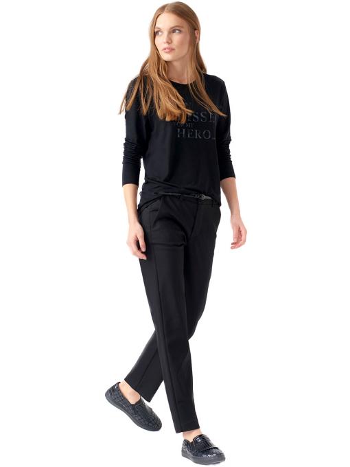 Дамска блуза с щампа XINT 142 - черна C