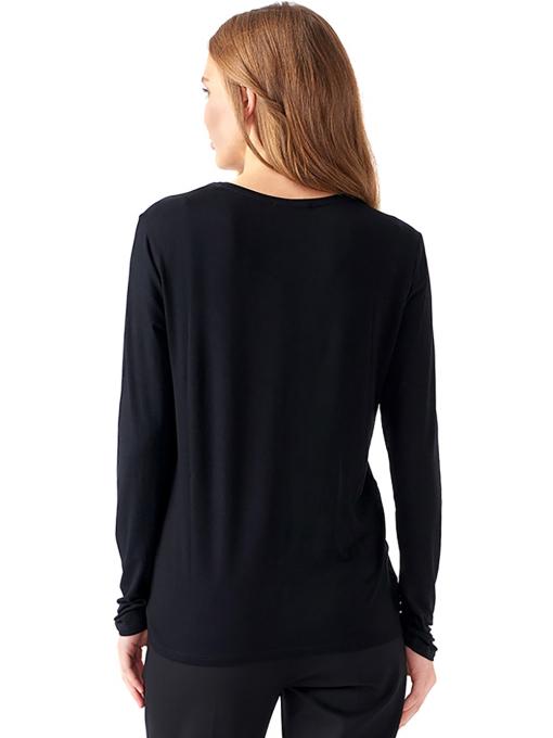Дамска блуза с щампа XINT 142 - черна B