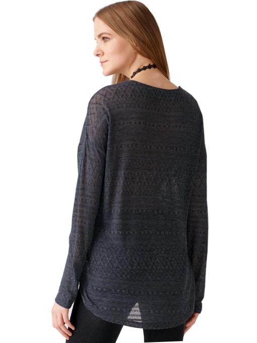 Дамска блуза свободен модел XINT 131- цвят антрацит B