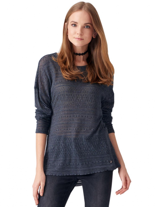 Дамска блуза свободен модел XINT 131- цвят антрацит