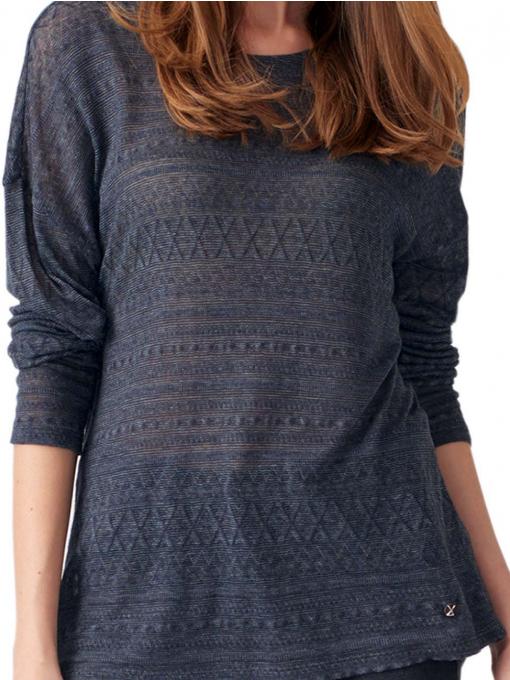 Дамска блуза свободен модел XINT 131- цвят антрацит D