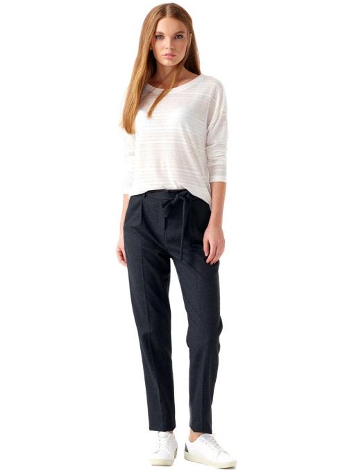Дамска блуза свободен модел XINT 131 - цвят екрю C