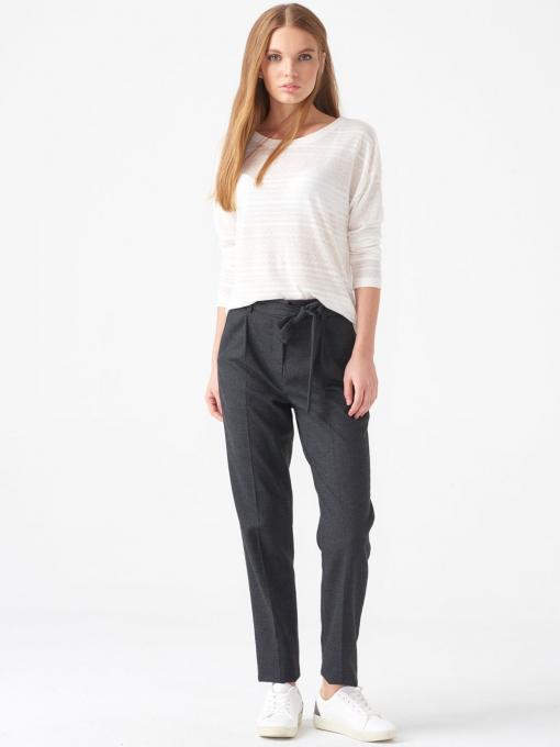 Дамска блуза свободен модел XINT - цвят екрю от Indigo Fashion 3