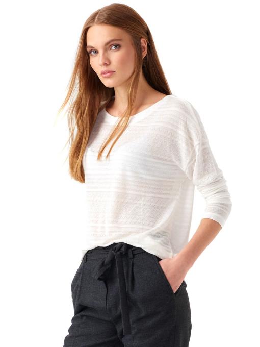 Дамска блуза свободен модел XINT 131 - цвят екрю