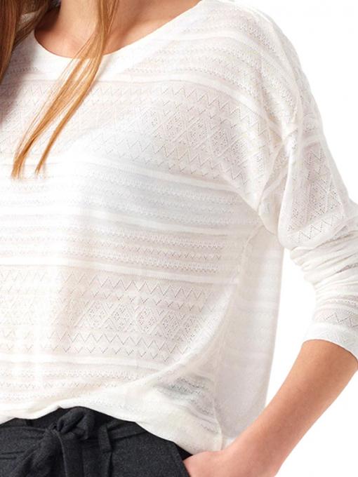 Дамска блуза свободен модел XINT 131 - цвят екрю D