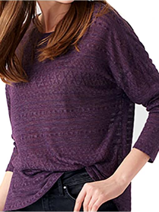 Дамска блуза свободен модел XINT 131 - тъмно лилава D