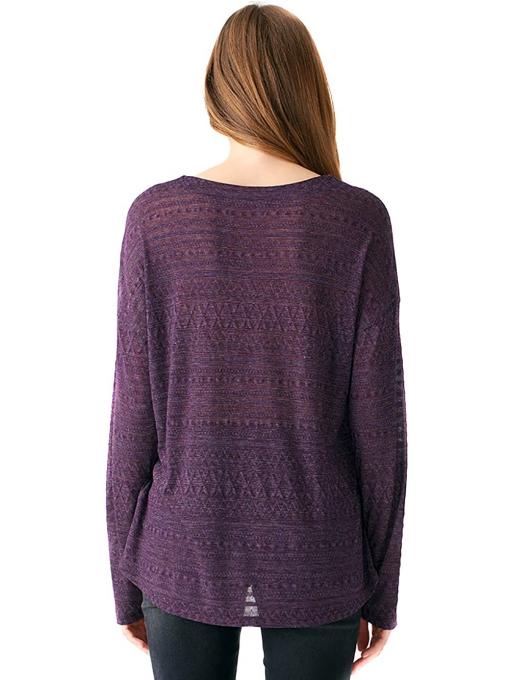 Дамска блуза свободен модел XINT 131 - тъмно лилава B