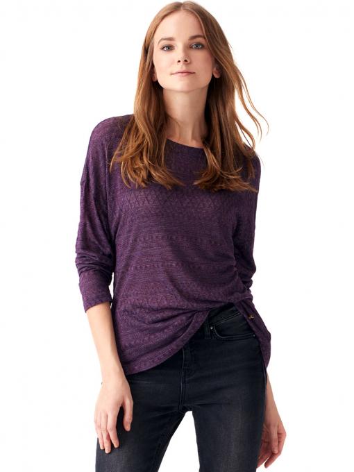 Дамска блуза свободен модел XINT 131 - тъмно лилава