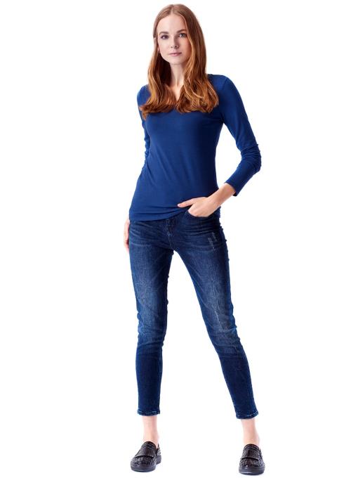 Дамска вталена блуза XINT 093 - синя C