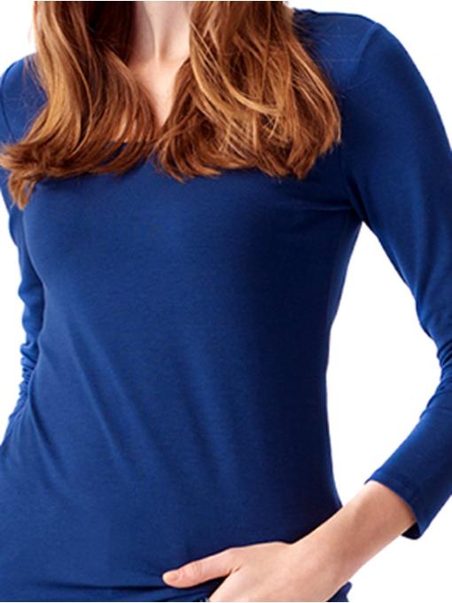 Дамска вталена блуза XINT 093 - синя D