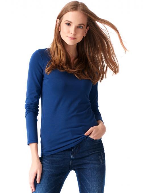 Дамска вталена блуза XINT 093 - синя