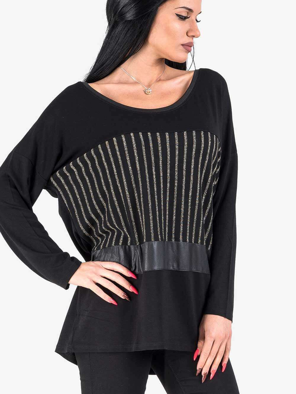 6ce78d20c50 Елегантна блуза с паднал ръкав | Блузи с дълъг ръкав от INDIGO Fashion