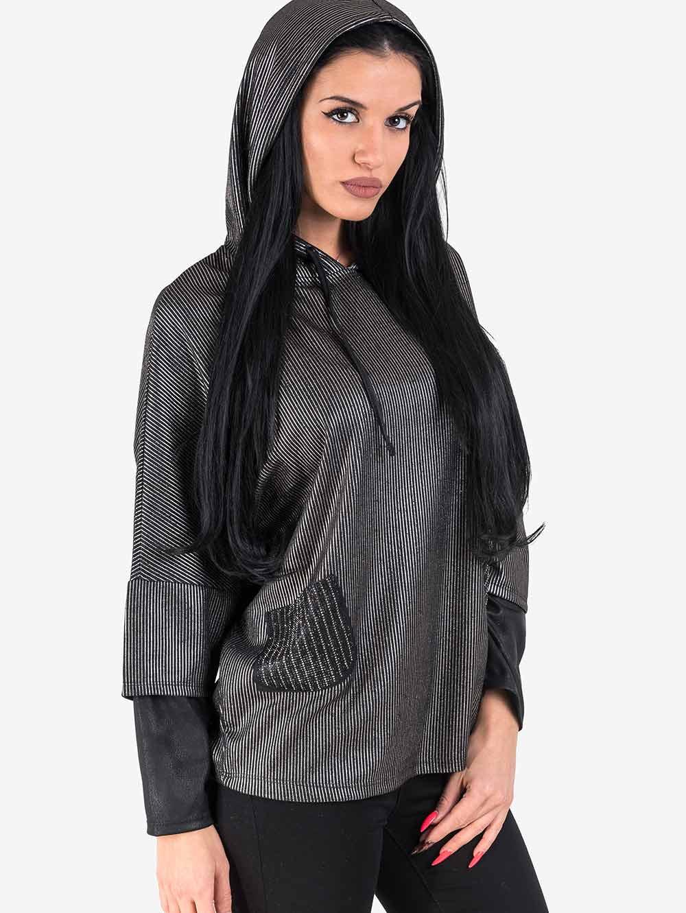 20055904aa3 Дамска блуза с качулка | Блузи с дълъг ръкав от INDIGO Fashion